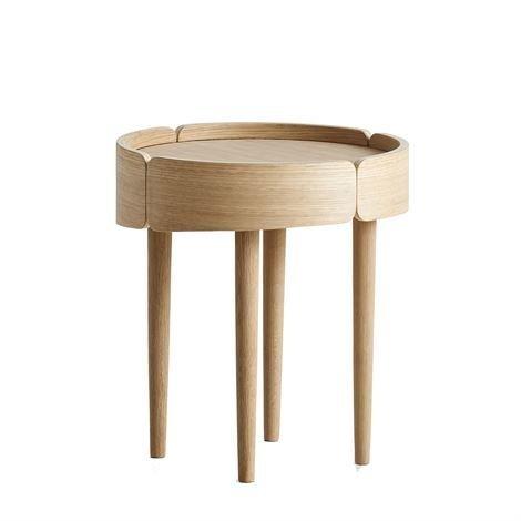 Woud Skirt Pöytä Pieni Valkopigmentoitu Tammi