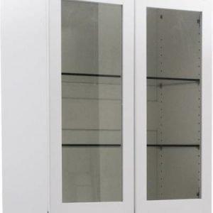 Ylävitriinikaappi Onerva kahdella ovella valkoinen