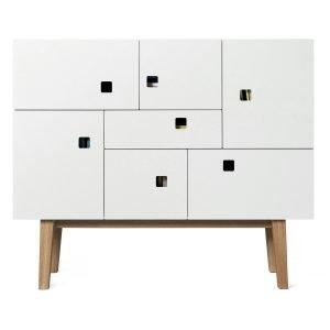 Zweed Peep C1 Sivupöytä Valkoinen / Tammi