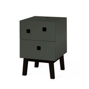 Zweed Peep S1 Yöpöytä Sage Green / Musta