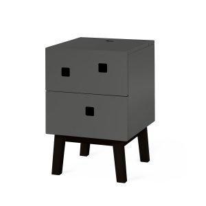 Zweed Peep S1 Yöpöytä Slate Grey / Musta