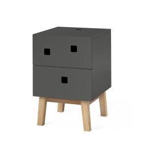 Zweed Peep S1 Yöpöytä Slate Grey / Oak