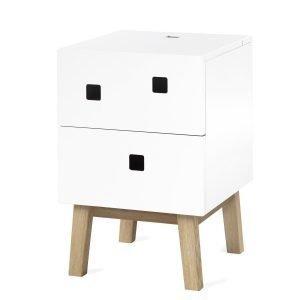 Zweed Peep S1 Yöpöytä Valkoinen / Tammi
